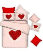 ست لحاف دو نفره 6تکه سه بعدی کاوردار king size-طرح Rose Heart
